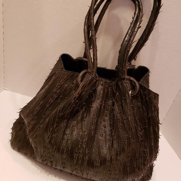 Jane August Handbags - Jane August brown leather satchel